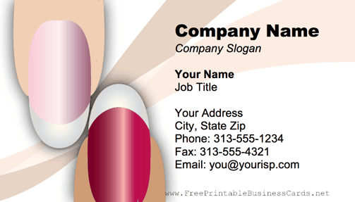 Fingernails business card