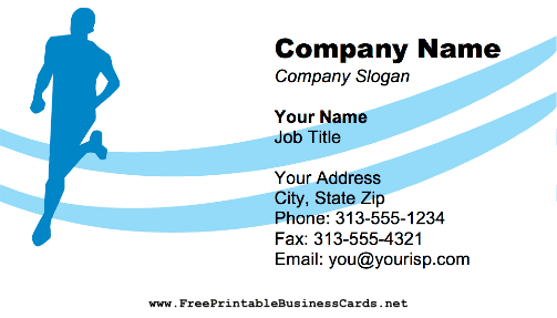 Running Coach business card