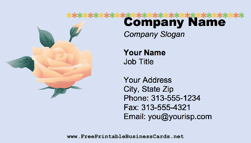 Flower Rose business card