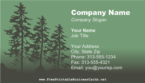 Green Forest business card