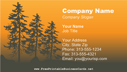Yellow Forest business card