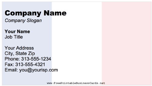France business card