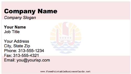 French Polynesia Business Card business card