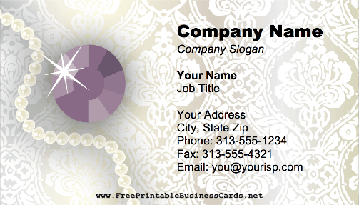Gem business card