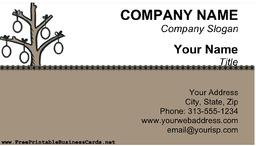 Genealogist business card