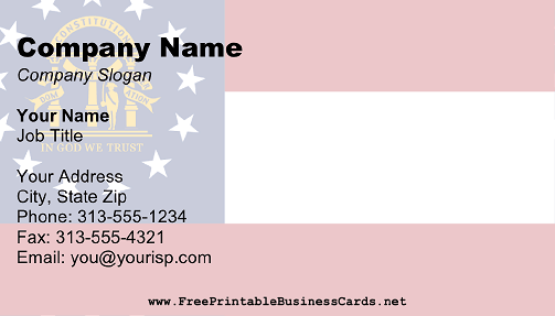 Georgia Flag business card