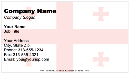 Georgia business card