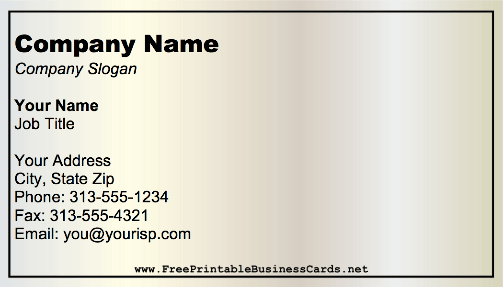 Gradient Offset business card