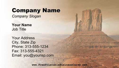 Grand Canyon Business Card business card