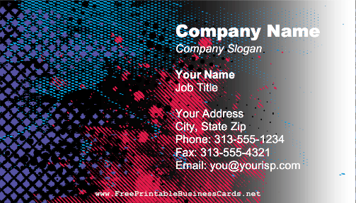 Graphic Design Abstract business card
