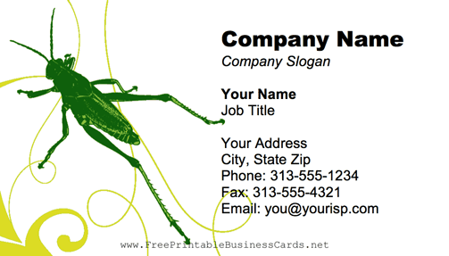 Grasshopper business card
