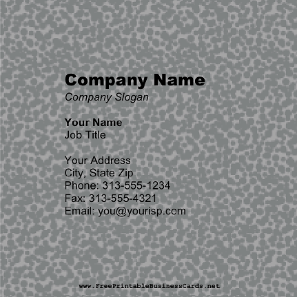 Gray Pattern Square business card
