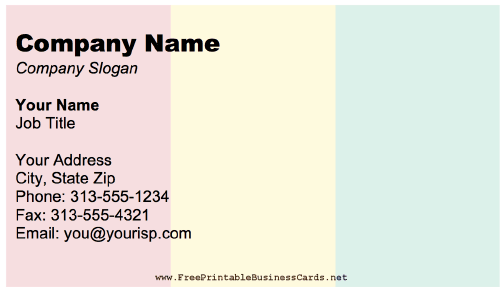 Guinea Business Card business card