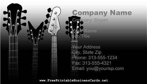 Guitar Necks business card