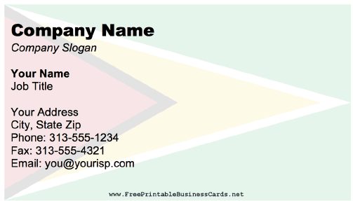 Guyana Business Card business card