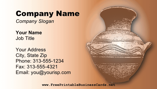 Handmade Business Card business card