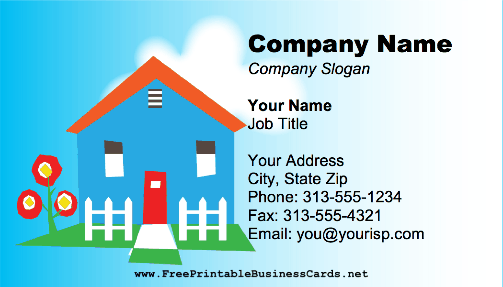 Home business card