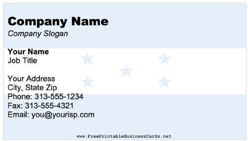 Honduras business card