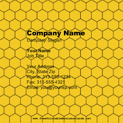 Honeycomb Square business card