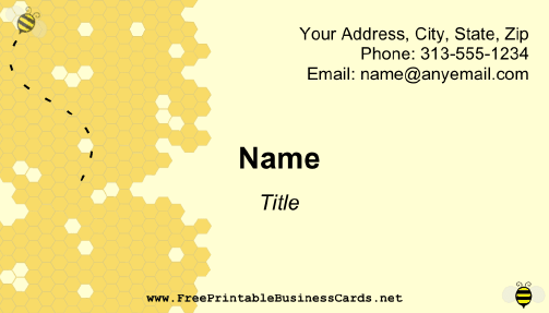 Honeycomb Business Card business card