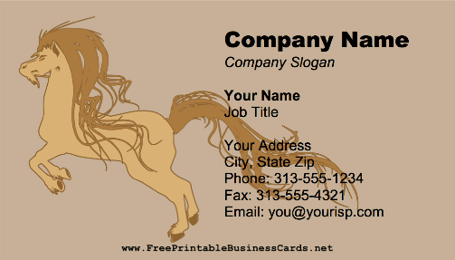 Stylized Horse business card