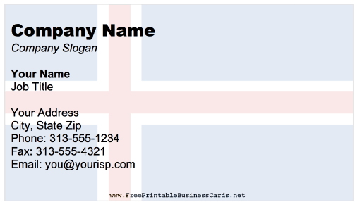 Iceland business card