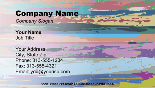 Impressionism business card