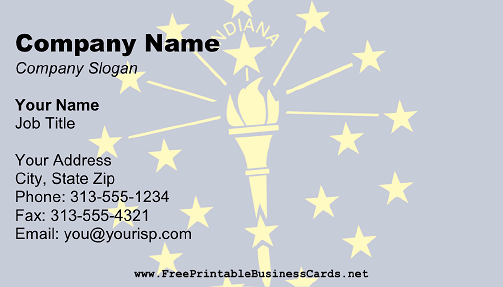 Flag of Indiana business card
