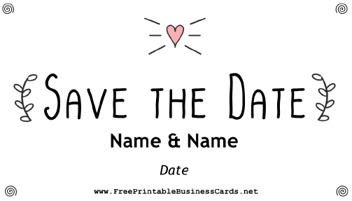 Indie Save The Date Card business card
