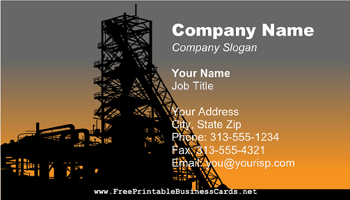 Factory business card
