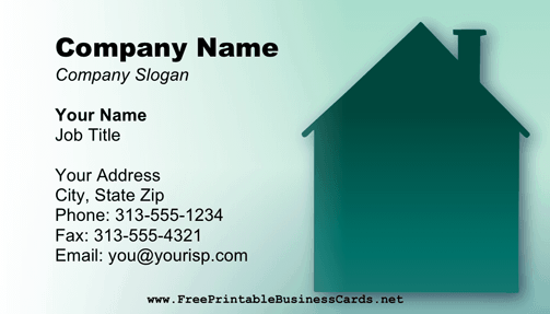 Investor business card