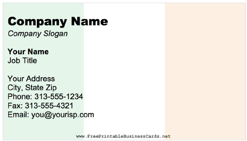 Ireland Business Card business card