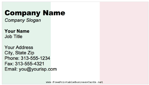 Italy Business Card business card