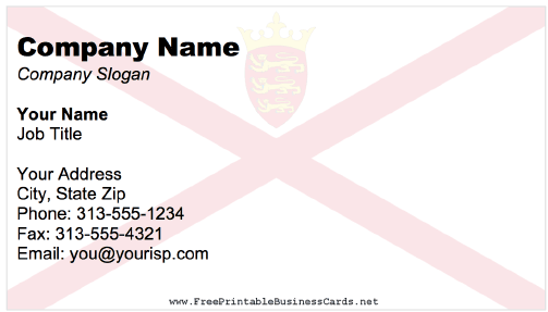 Jersey Business Card business card