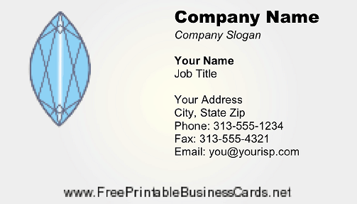 Jewel business card