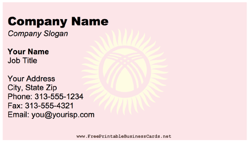 Kyrgyzstan business card