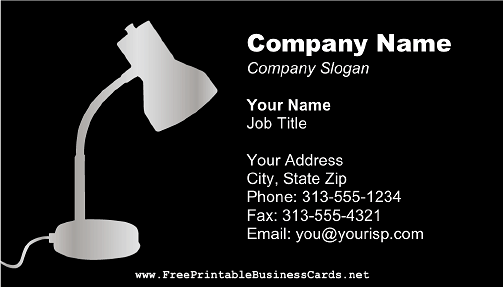 Desk Lamp 2 business card