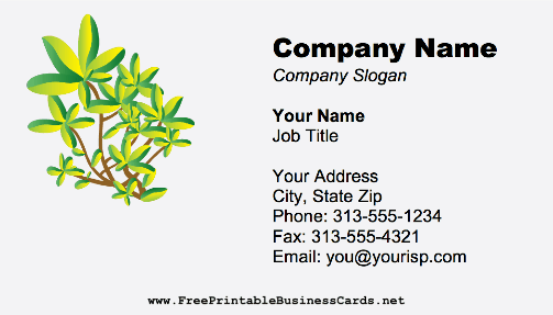 Landscaping Leaves business card