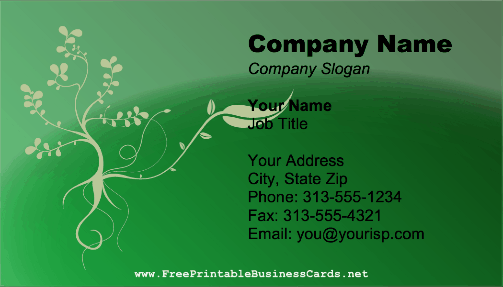 Landscaping Vines business card