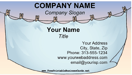 Laundry Service business card