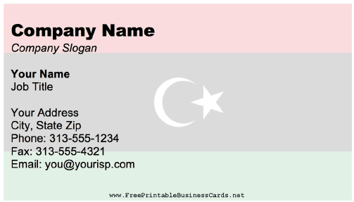 Libya business card