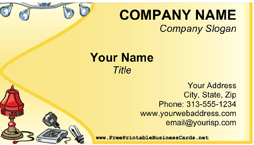 Lighting Store business card