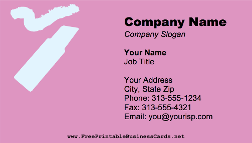 Lipstick business card