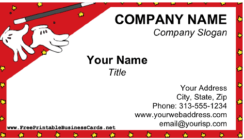 Magician business card