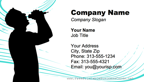Male Singer business card