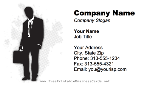 Man In A Suit business card