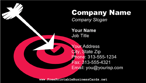 Heart Arrow Bullseye business card
