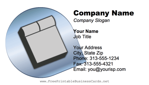 Mattress business card
