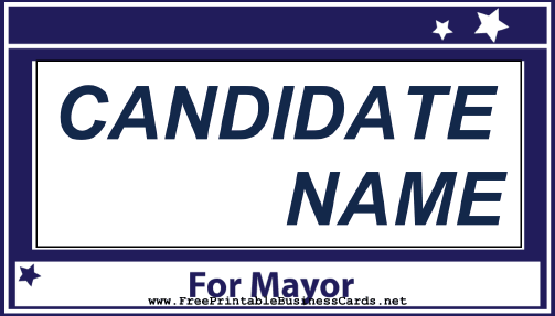 Mayor Sign business card