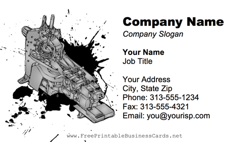 Mechanical Equipment business card